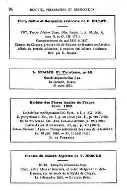 Populaire Faire un Herbier - Herbier - Université de Strasbourg YN28